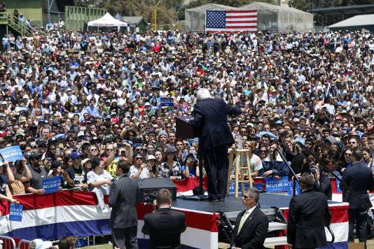 Le candidat démocrate Bernie Sanders lors d'un meeting àVentura, en Californie, le 26 mai 2016.