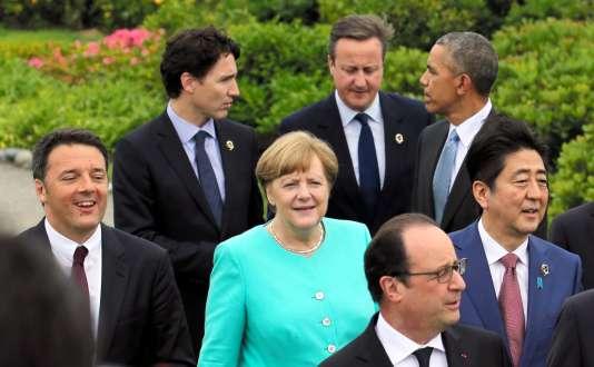 Les participants au G7 réunis le 26 mai à Ise, au Japon.