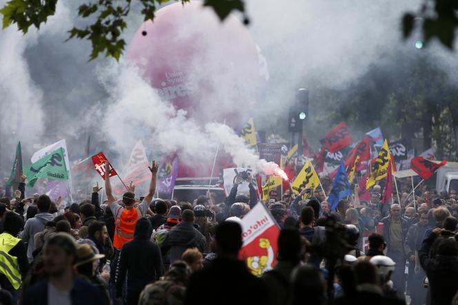 Manifestation contre la « loi travail», àParis, le 26 mai.