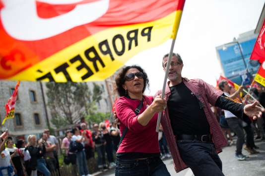 Lors de la manifestation contre le projet de loi travail du 26 mai à Marseille.