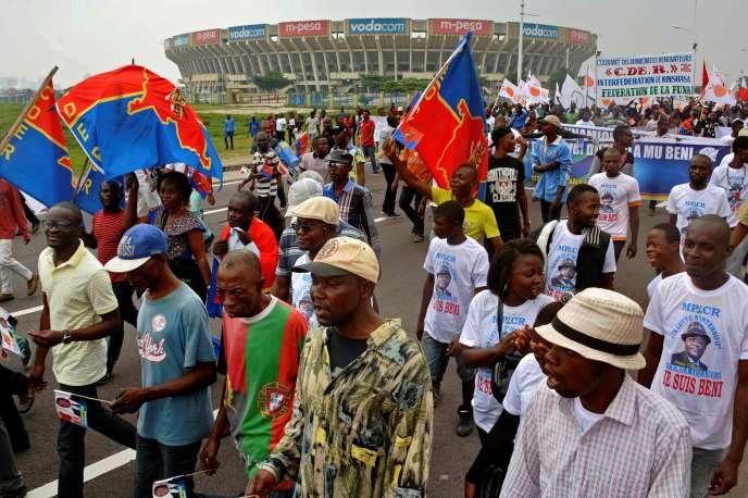 Manifestations à Kinshasa, la capitale de la République démocratique du Congo, jeudi 26 mai.