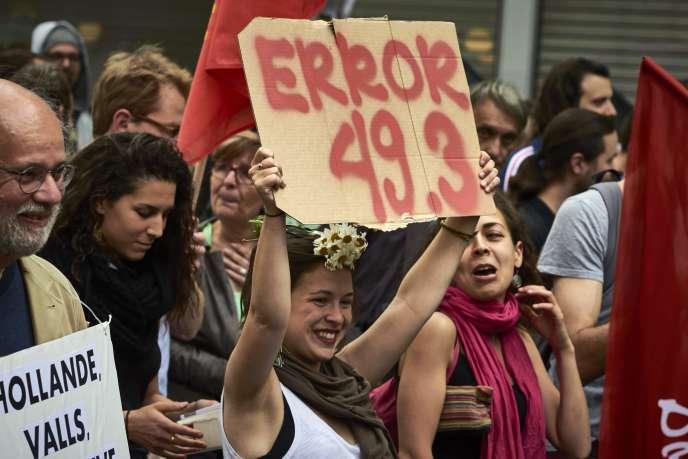 Manifestation contre la réforme du code du travail le 26 mai à Lyon.