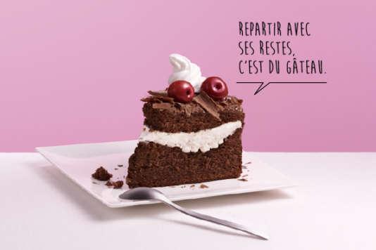 Illustration issue de l'une des affichettes de la campagne de l'Ademe contre le gaspillage alimentaire.