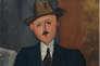 L'homme à la canne par Modigliani.
