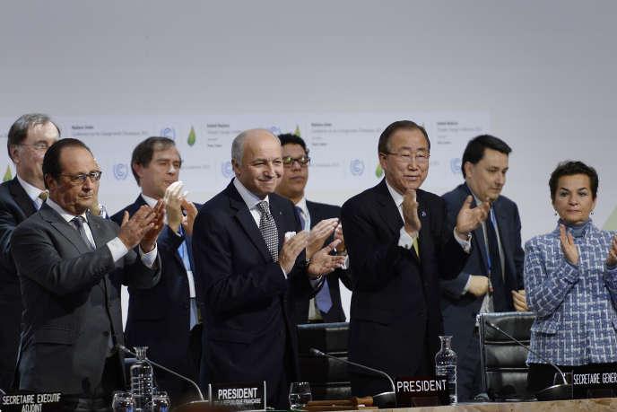 Lors de la COP21 à Paris le 12 décembre 2015.