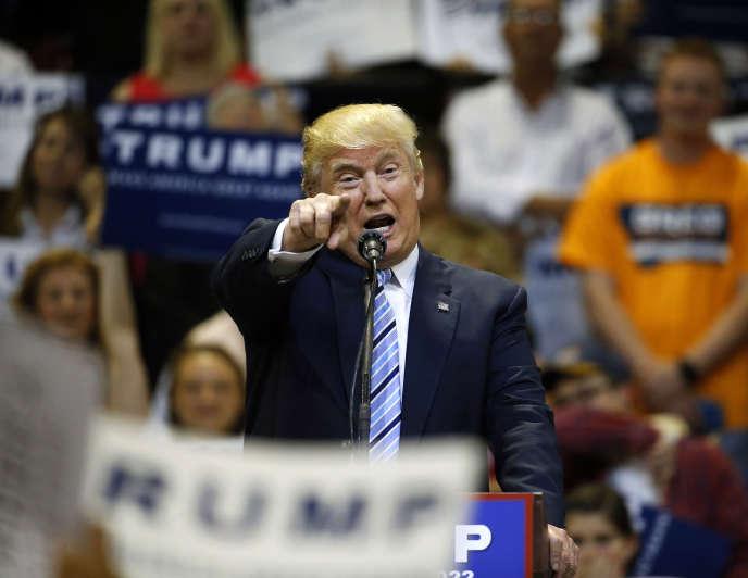 Le candidat républicain Donald Trump lors d'un meeting de campagne le 26 mai.
