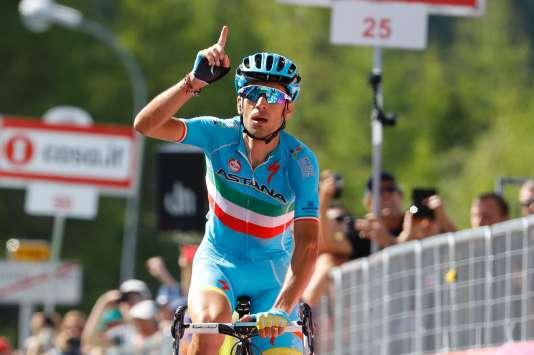 Vincenzo Nibali, vainqueur à Risoul, le 27 mai.