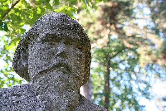 Le buste de Johannes Brahms dans la ville allemande de Detmold, où il séjourna de 1857 à 1859.