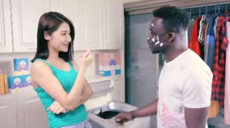 Extrait de la publicité pour lalessive chinoise Qiaobi.