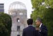 Barack Obama et Shinzo Abe à Hiroshima le 27 mai.