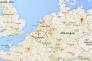 Capture d'écran Google Maps de l'Allemagne.