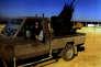 Foued Mohamed-Aggad, 21 ans, au volant d'un pick-up en Syrie.