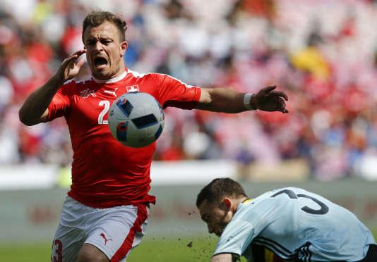 Xherdan Shaqiri en action contre la Belgique, le 28 mai.