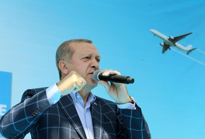 Le président turc,Recep Tayyip Erdogan, àDiyarbakir le 28 mai.