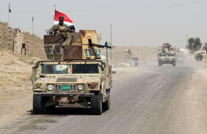 Des forces irakiennes près de Fallouja.