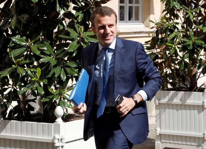 Emmanuel Macron, à Matignon, le 28 mai.
