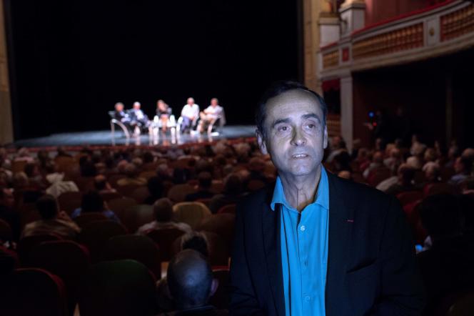 «Le néo-maurrassisme du maire de Béziers est un paganisme. L'identitarisme trahit le christianisme». (Photo : Robert Ménard, maire de Béziers, lors du« Rendez-Vous de Béziers», le samedi 28mai).