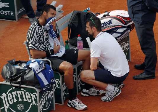 Jo-Wilfried Tsonga a abandonné au trosième tour du tournoi.