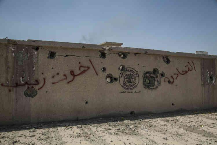 Des inscriptions des miliciens chiites dans le centre de Garma : «La mobilisation populaire a posé le pied à Garma»,«Merci L'iran-Soleimani» &«Abu fatima al Karbala»