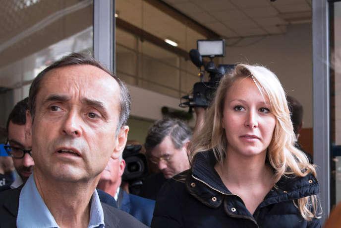 Robert Ménard et Marion Maréchal-Le Penquittant le Palais des congrès de Béziers, le 28 mai 2016.