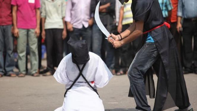 Exécution à mort par décapitation au sabre en Arabie saoudite.