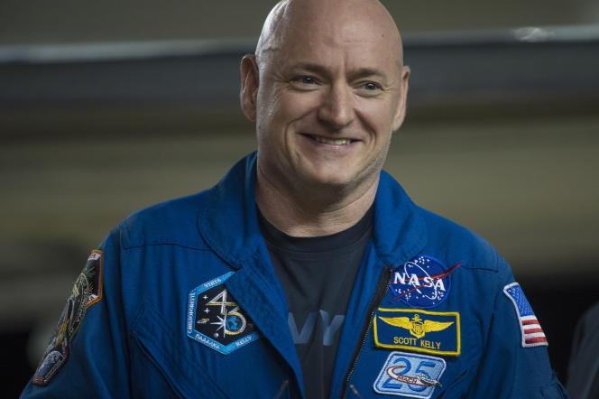 Scott Kelly, de retour à Houston (Texas), le 3 mars, après sa mission dans la Station spatiale internationale.