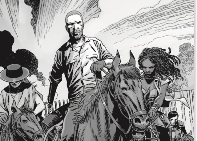Un extrait d'une planche du tome 24 de la BD« The Walking Dead».