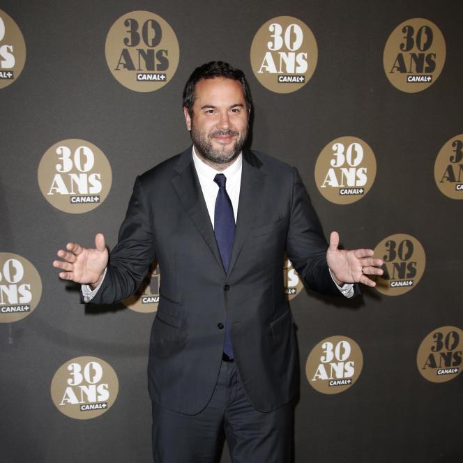 Le journaliste Bruce Toussaint lors de l'anniversaire des 30 ans de Canal+, le 4 novembre.