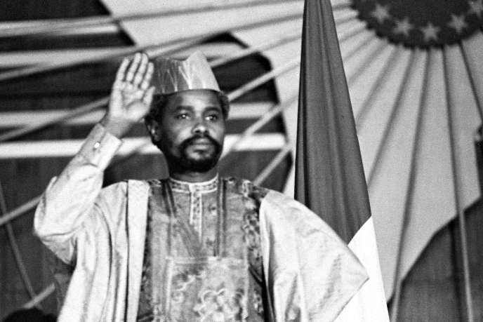 Hissène Habré, le 16 août 1983, à N'Djamena.