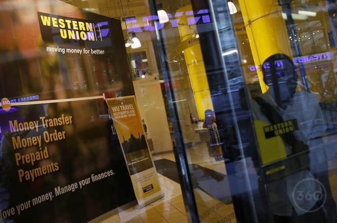 Un guichet de Western Union.