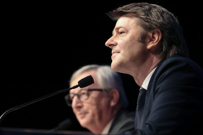 François Baroin, président de l'AMF,devant les maires français, le 31 mai 2016.