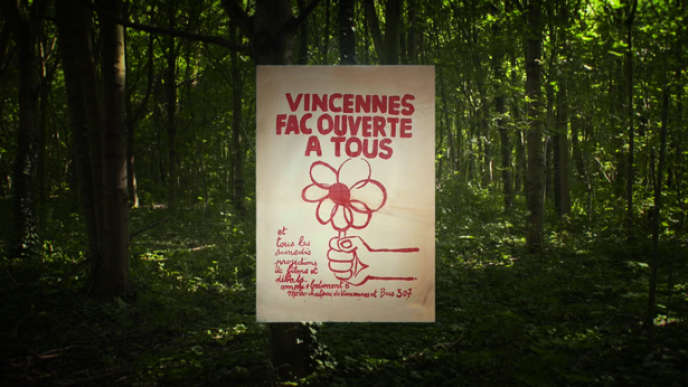L'affiche du documentaire de Virginie Linhart« Vincennes, l'université perdue».