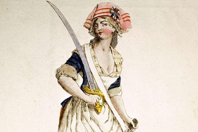 « La Femme du sans-culotte », illustration anonyme, vers 1793.