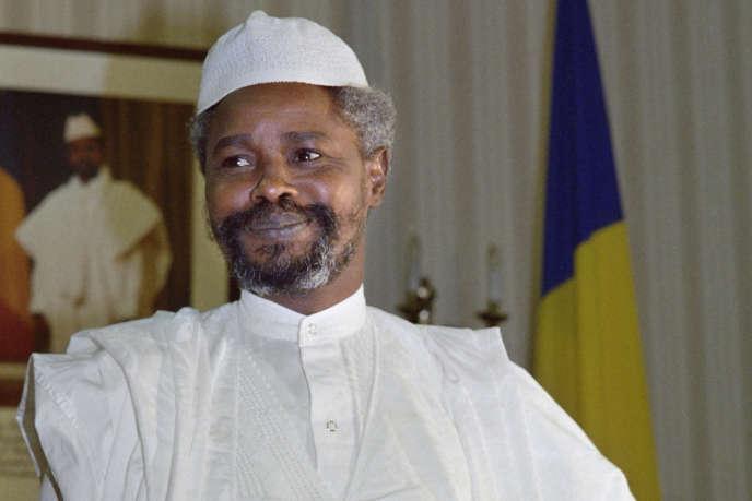 Hissène Habré, à N'Djamena, le 6 février 1987.
