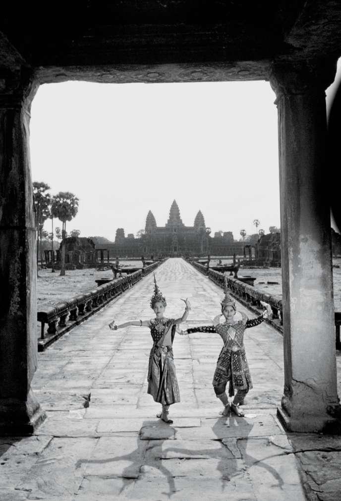 L'entrée d'un temple à Angkor, cité impériale et religieuse khmère.