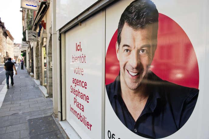 Une agence Stephane Plaza Immobilier au centre ville de Grenoble.