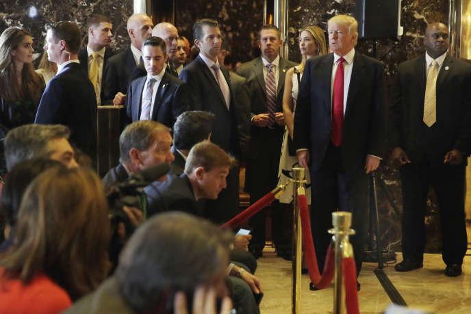 Donald Trump, le 31 mai, lors d'une conférence de presse à New York.