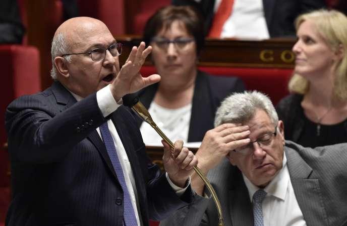 Michel Sapin, ministre des finances, à l'Assemblée nationale le 1er juin.