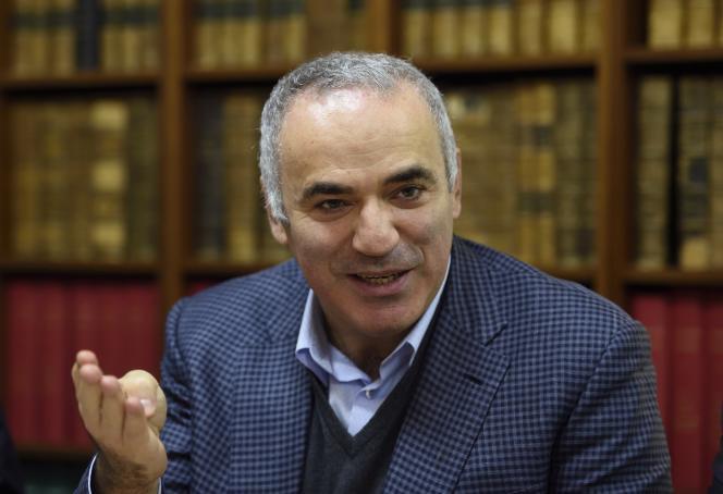 Garry Kasparov à Paris le 20 octobre 2015.