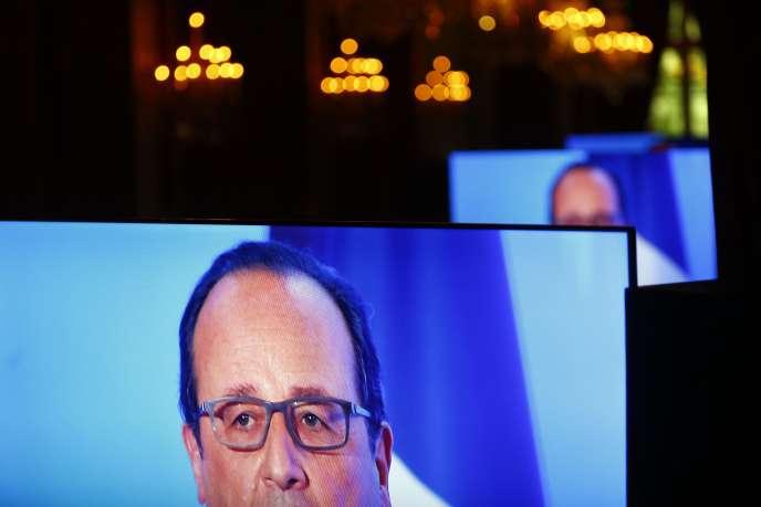 François Hollande, lors d'un discours prononcé au palais de l'Elysée, le 23 mai.