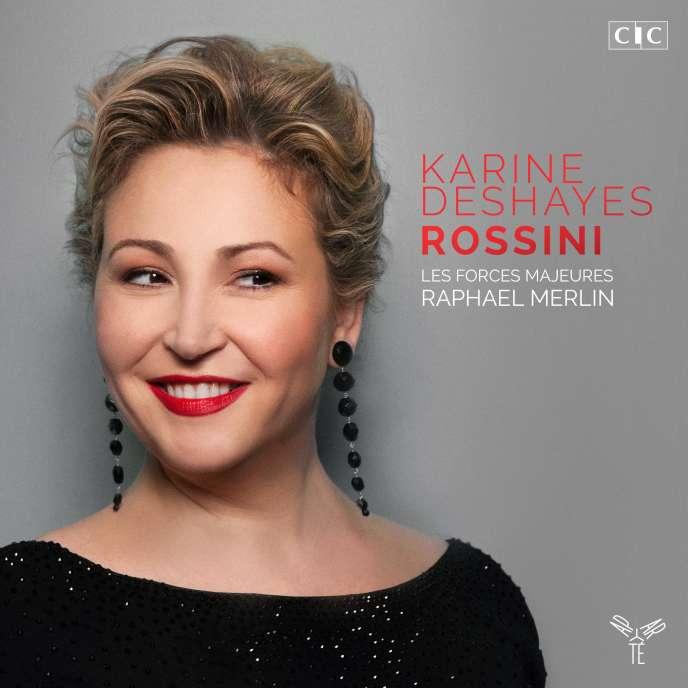 Pochette de l'album « Rossini »,parKarine Deshayes (mezzo-soprano), Les Forces majeures, Raphaël Merlin (direction).