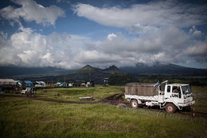 Un camion de la Monusco dans le Nord-Kivu en avril 2015.