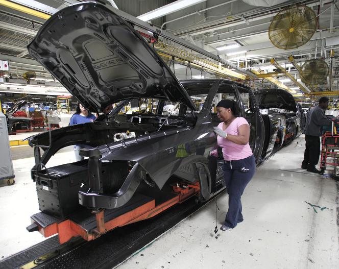 Dans une usine Chrysler dans le Michigan. L'OCDE prévoit que la croissance des Etats-Unis passera sous la barre des 2 % cette année, à 1,8 %