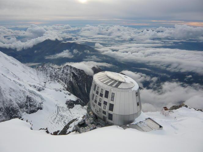 Le refuge du Goûter, sur le Mont-Blanc, où une étude sur la prise de médicaments par les alpinistes a été conduite.