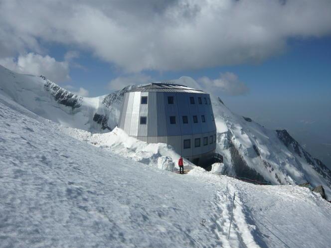 Le refuge du Goûter, sur les pentes du Mont-Blanc, où des échantillon d'urine des alpinistes ont été prélevés.