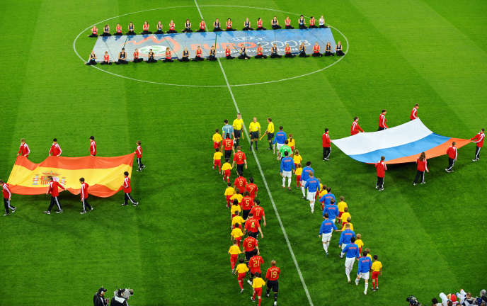 Avant le match Espagne-Russie de l'Euro 2008.