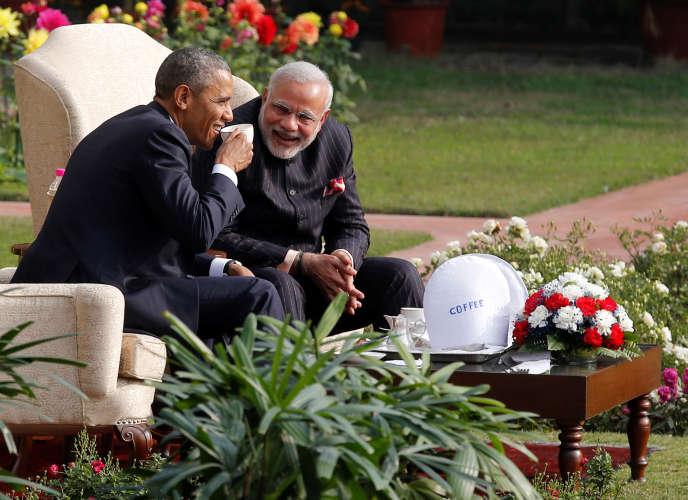 Le président américain, Barack Obama, et le premier ministre indien, Narendra Modi, le 25 janvier 2015, à New Delhi.
