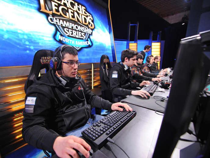 Lors de la League of legends, en 2014, en Californie.