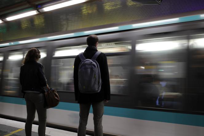 Dans le métro parisien, le 2juin.