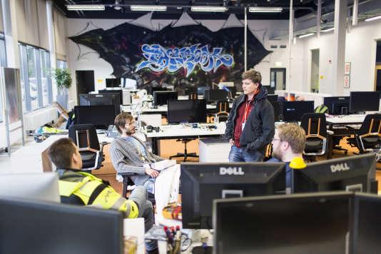 A l'intérieur du data center deFacebooks à Luleå, en Suède.